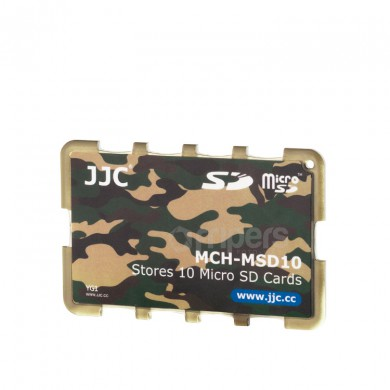 Cover for memory cards JJC MSD10YG for micro SD cards