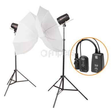 Flash Lamp Kit Jinbei Delicacy DUO I with umbrellas