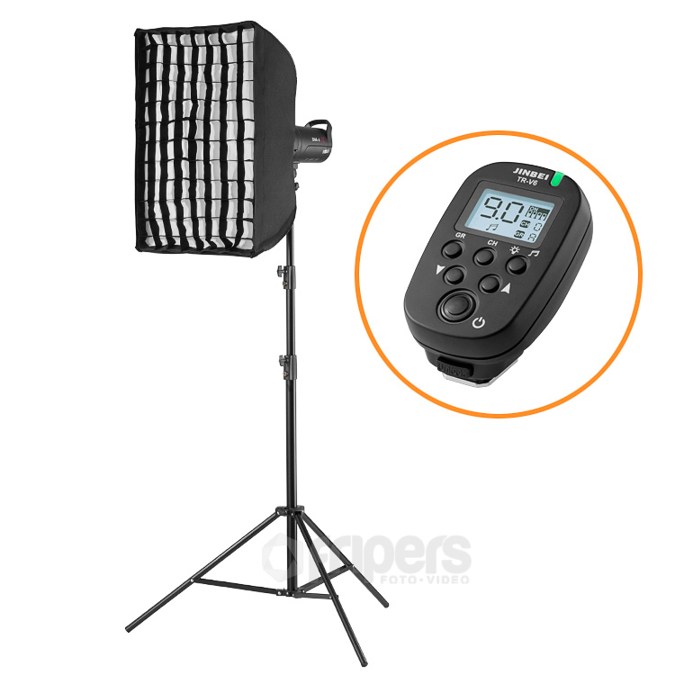 Flash lighting kit FreePower BASICPOWER with Jinbei DM series lamp