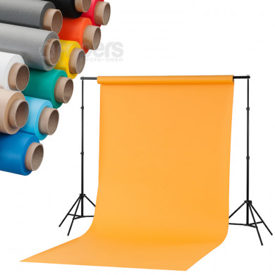 Home Atelier kit + 3 x 1,6x5m background FreePower