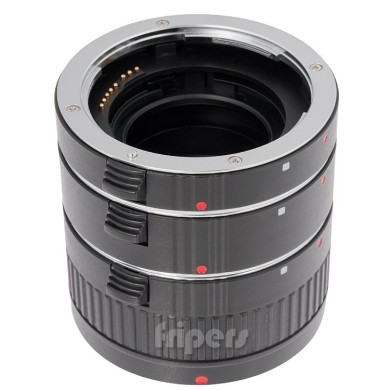 Macro rings kit with signals transmission for Canon FreePower