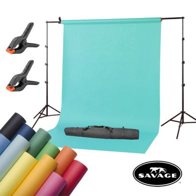 Portable background kit + Savage paper background 2,72x11m FreePower