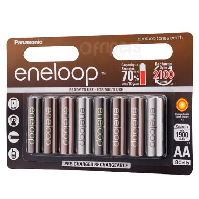 Rechageable Batteries Eneloop Tones Earth 2000mAh 8x R6/AA