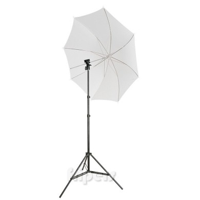 Three pieces reporter kit umbrella + bracket + light stand FreePower